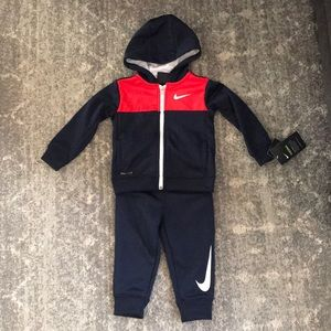 Nike Toddler track suit hoodie pants size 24m NWT